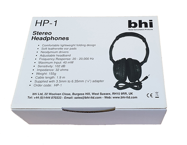 HP-1 Wired Stereo Headphones - BHI ~ DSP Noise Cancellation